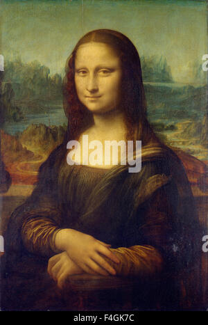 MONA LISA  Painting by Leonardo da Vinci aka La Gioconda - Stock Photo