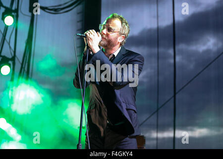 THE NATIONAL bring their 2013 tour to Raleigh, NC. The National is an American indie rock band formed in Cincinnati, - Stock Photo