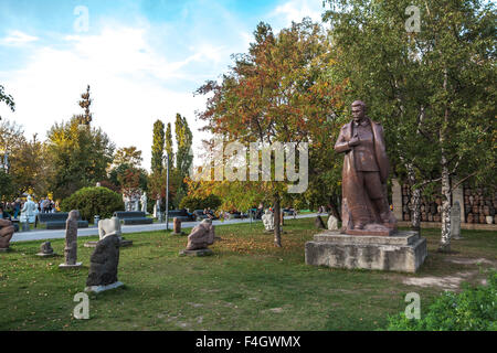 Moscow, Russia - September 25, 2015:  City artistic park Muzeon. Tyrant Stalin and his victims. - Stock Photo
