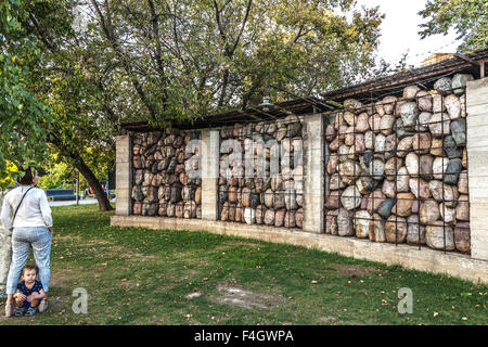 Moscow, Russia - September 25, 2015:  City artistic park Muzeon. Victims of totalitarian regime, author Chubarov. - Stock Photo