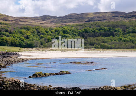 Mull's only sandy beach at Calgary Bay, Isle of Mull, Argyll and Bute, Inner Hebrides, Western Isles, Scotland, - Stock Photo