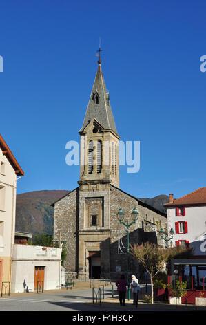 Church, Tarascon-sur-Ariege, Ariege, Midi-Pyrenees, France - Stock Photo