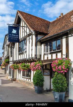 The Swan Hotel and Spa, Lavenham, Suffolk, England, UK - Stock Photo