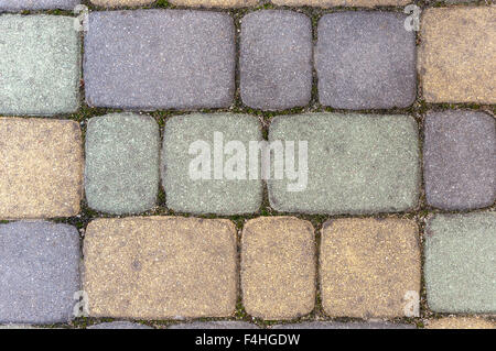 Colorful sett bricks as texture or background. - Stock Photo