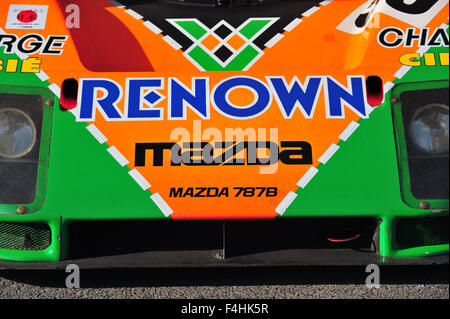 A Mazda 787B Group C sports prototype racing car at the Goodwood Festival of Speed iat the Goodwood Festival of - Stock Photo