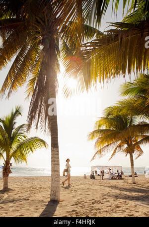 The main beach on Isla Mujeres,Quintana Roo, Mexico. - Stock Photo
