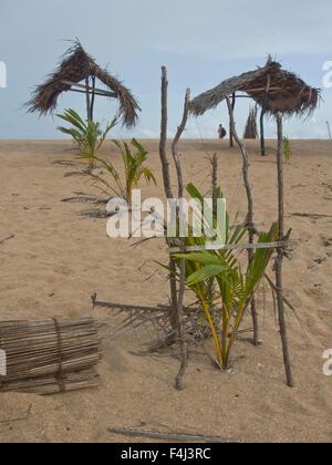 Beach near Tangalle on the southern coast of Sri Lanka, Asia - Stock Photo