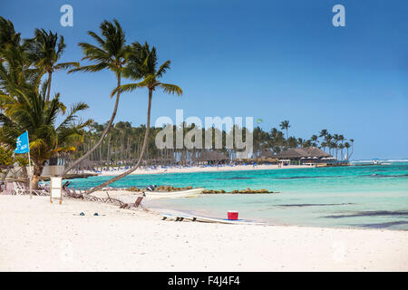 Kitesurfing beach at The Kite Club, Playa Blanca, Punta Cana, Dominican Republic, West Indies, Caribbean, Central - Stock Photo