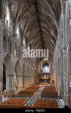 Interior looking East, Worcester Cathedral, Worcester, England, United Kingdom, Europe - Stock Photo