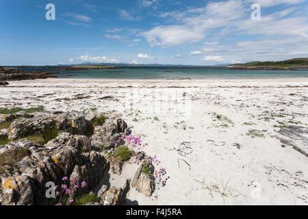 Silver Sands of Morar, The Highlands, Scotland, United Kingdom, Europe - Stock Photo