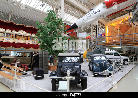 Old cars exhibit, Technik Museum Speyer, Rhineland Palatinate, Germany, Europe - Stock Photo