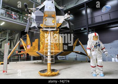 Apollo 17, Exhibition Apollo and Beyond. The Technik Museum Speyer, Rhineland Palatinate, Germany, Europe - Stock Photo