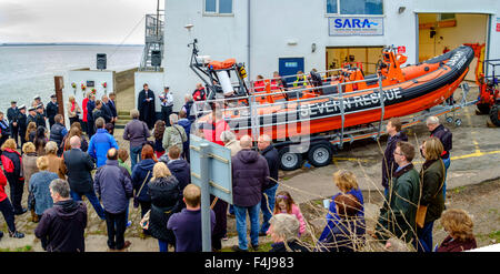 Naming of new lifeboat'Jim Hewitt' and service of dedication at  SARA (Severn Area Rescue Association' headquarters. - Stock Photo