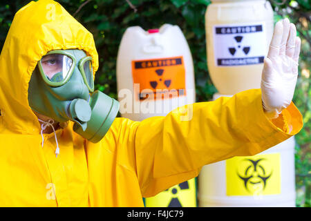 Risk of radiation - Stock Photo