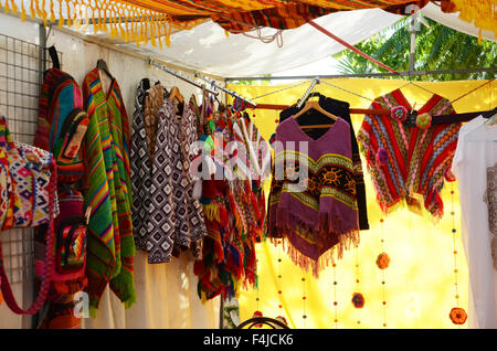 Las Dalias, hippy market at San Carlos on Ibiza - Stock Photo