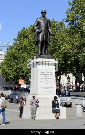 Statue of Major General Sir Henry Havelock, Trafalgar Square, London, UK