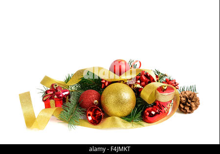 Christmas ornament, isolated on white background - Stock Photo