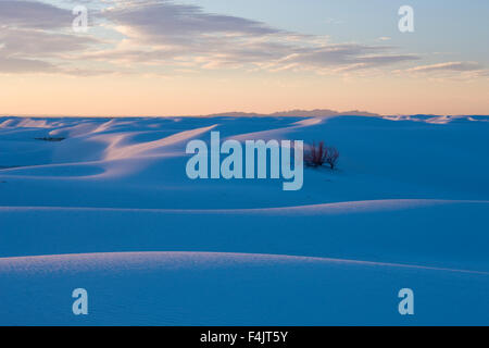 Sand dunes in White Sands National Monument - Stock Photo