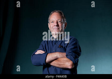 Tom Drury, the American novelist, at the Edinburgh International Book Festival 2015. Edinburgh, Scotland. 28th August - Stock Photo