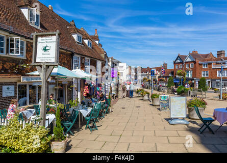 Mrs Burton's Restaurant and Tearoom on the High Street in Battle, site of the Battle of Hastings, East Sussex England, - Stock Photo