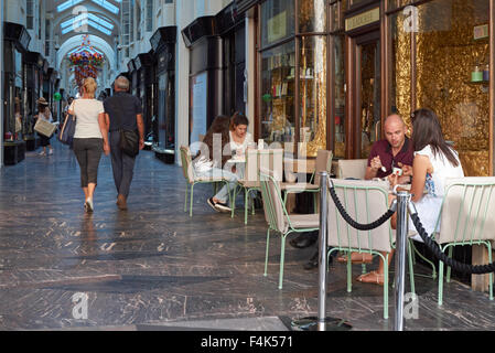 The Burlington Arcade, shopping arcade in London England United Kingdom UK - Stock Photo