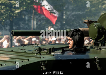 Soldiers of the Polish Military attends the Armed Forces Day in Warsaw - Stock Photo