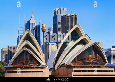 SYDNEY - May 10, 2015: The Sydney Opera House, viewed from Harbour in Sydney, Australia on May 10, 2015. - Stock Photo