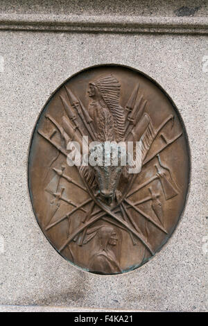 New York, West Point. West Point cemetery. General George Armstrong Custer grave site. - Stock Photo
