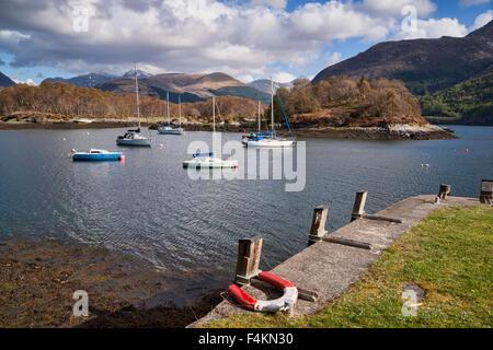 Loch Leven at North Ballachulish, Glencoe mountains, Highland,  Scotland, UK - Stock Photo