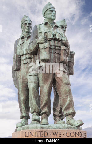 Commando Memorial, Spean Bridge, Inverness-shire, Highland,Scotland, UK - Stock Photo