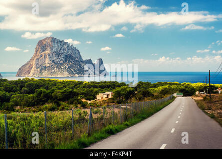Road to the Cala d'Hort beach - Stock Photo
