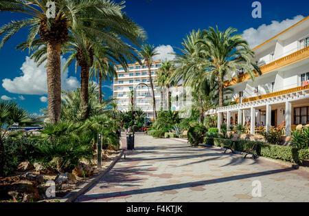View of Ibiza seafront - Stock Photo