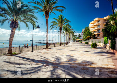 View of Ibiza seafront. Spain - Stock Photo