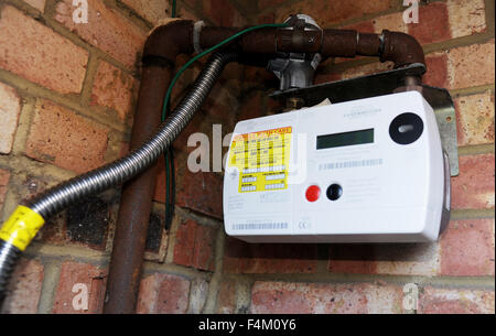 British Gas smart meter to measure household use sending readings back automatically - Stock Photo