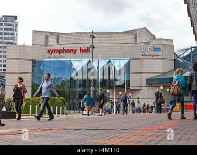 Symphony Hall and International Convention Centre concert venue in Birmingham West Midlands England UK - Stock Photo