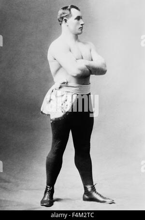 Vintage portrait photo of heavyweight boxer 'Sailor' Tom Sharkey (1873 - 1953). Sharkey, born in Dundalk, Ireland, - Stock Photo