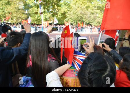 The Mall, London, UK. 20th October 2015. Xi Jinping Chinese President state visit to London Credit:  Matthew Chattle/Alamy - Stock Photo