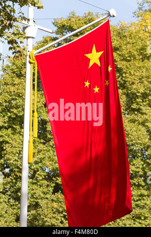 London, UK. 20th October, 2015. Chinese Flag in the Mall during the Chinese State visit. Credit:  Keith Larby/Alamy - Stock Photo