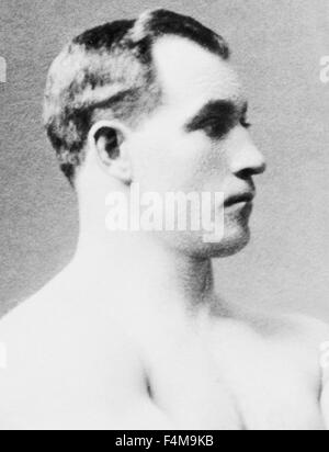 Vintage photo of heavyweight boxer 'Sailor' Tom Sharkey (1873 - 1953). Sharkey, born in Dundalk, Ireland, ran away - Stock Photo