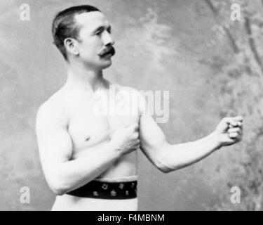 Vintage photo of Irish-American boxer John H Clark (1849 - 1922). Clark, nicknamed 'Professor', was born in County - Stock Photo