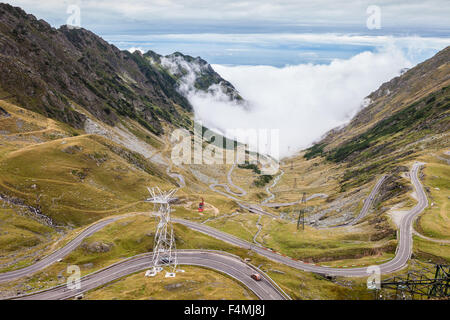 Transfagarasan Road in Romania region of Transilvania - Stock Photo