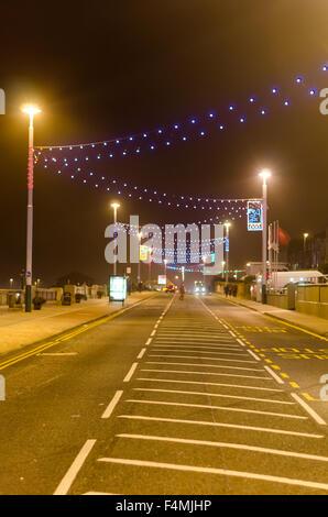 Photograph of Sunderland Illuminations 2015 Along Whitburn Road (A183) Showing Street Illuminations - Stock Photo