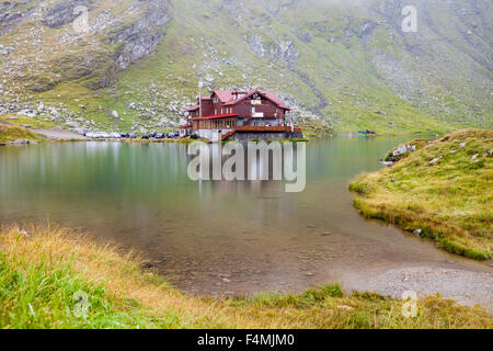 Hotel Balea Lac in Transfagarasan Road in Romania region of Transilvania - Stock Photo