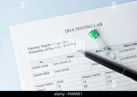 Paternity test results with pen and lab sample numbers are random paternity test results with pen and lab sample stock photo thecheapjerseys Images