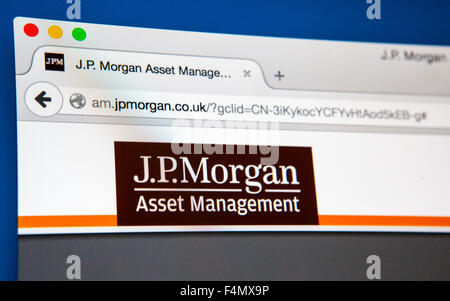 LONDON, UK - JUNE 21ST 2015: The website of JP Morgan Asset Management, on 21st June 2015. - Stock Photo