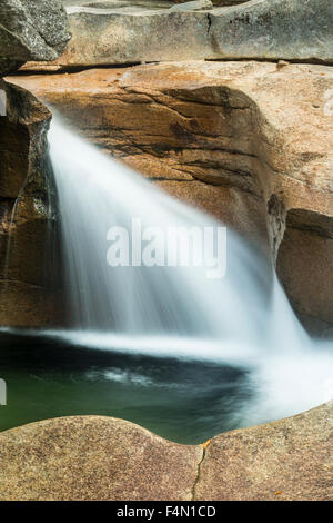 The Basin, a granite pothole of the Pemigewasset River in Franconia Notch State Park, Lincoln, New Hampshire, in - Stock Photo