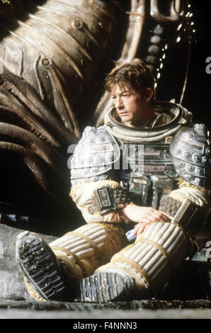 Alien is a 1979 science-fiction horror film directed by Ridley Scott, and starring Tom Skerritt, Sigourney Weaver, - Stock Photo
