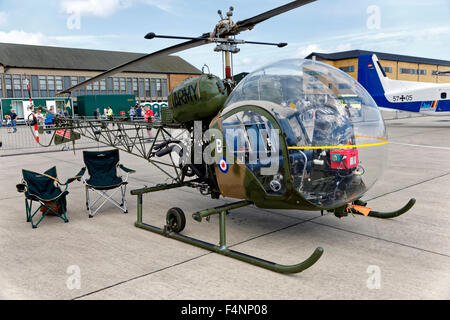 Former Army Air Corps (AAC) 1964 Westland Sioux AH.1 XT131 pictured here at the RNAS Yeovilton International Air - Stock Photo