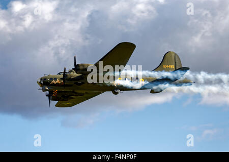 Boeing B-17G Flying Fortress G-BEDF 'Sally B'. - Stock Photo