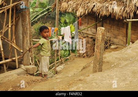 Nagaland, India - March 2012:  in Nagaland, India. Documentary editorial. - Stock Photo